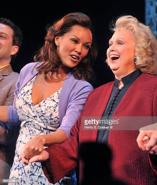 Actress Vanessa Williams and actress Barbara Cook attend the opening of Sondheim on Sondheim at the Roundabout Theatre Company on April 22 2010 in...