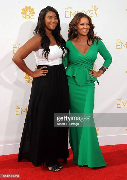 Actress Vanessa Williams and daughter arrive for the 66th Annual Primetime Emmy Awards held at Nokia Theatre LA Live on August 25 2014 in Los Angeles...