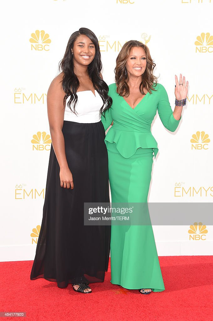 Actress Vanessa Williams (R) and guest attend the 66th Annual Primetime Emmy Awards held at Nokia Theatre L.A. Live on August 25, 2014 in Los Angeles, California.