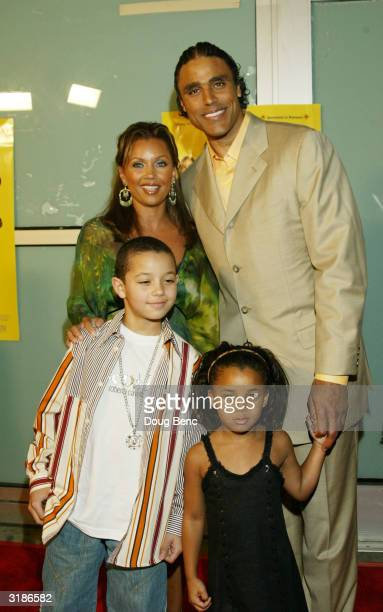 Actress Vanessa Williams and husband Los Angeles Laker player Rick Fox and children arrive for the premier of Johnson Family Vacation at the Cinerama...