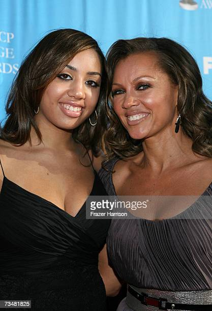 Actress Vanessa Williams and Melanie Hervey arrive at the 38th annual NAACP Image Awards held at the Shrine Auditorium on March 2 2007 in Los Angeles...