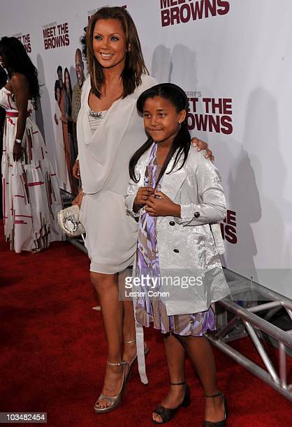 Actress Vanessa Williams and Sasha Gabriella Fox attend the Lionsgate Premiere of Tyler Perry's Meet the Browns at The Cinerama Dome on March 13 2008...