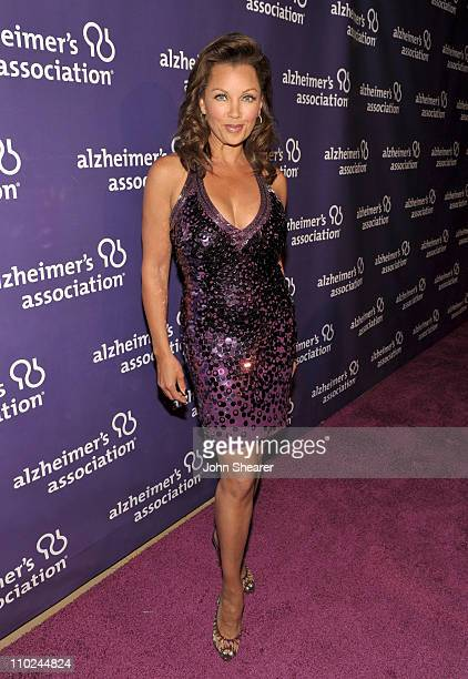 Actress Vanessa Williams arrives at the 19th annual A Night At Sardi's fundraiser and awards dinner benefitting the Alzheimer's Association at the...