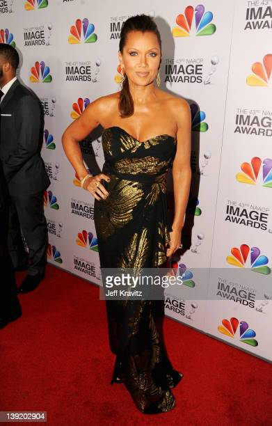 Actress Vanessa Williams arrives at the 43rd NAACP Image Awards after party held at The Shrine Auditorium on February 17 2012 in Los Angeles...