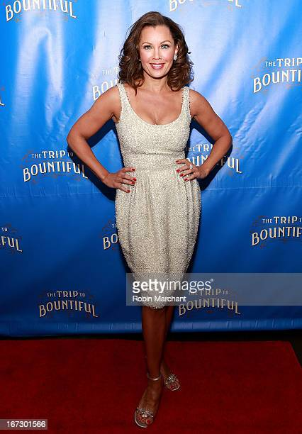 Actress Vanessa Williams attends the after party for the Broadway opening night of The Trip To Bountiful at Copacabana on April 23 2013 in New York...