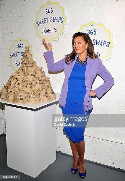 Actress Vanessa Williams attends the Splenda #Sweetswaps Charitable Social Media Campaign Kick Off at Haven's Kitchen on March 25 2014 in New York...