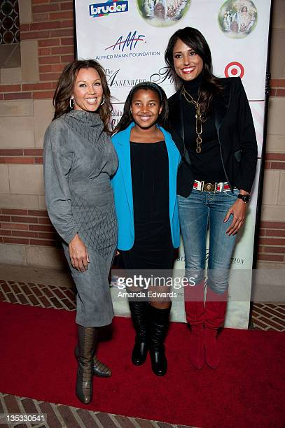 Actress Vanessa Williams her daughter Sasha and model Jeanene Fox arrive at Debbie Allen's 2nd Annual The Hot Chocolate Nutcracker at Royce Hall UCLA...