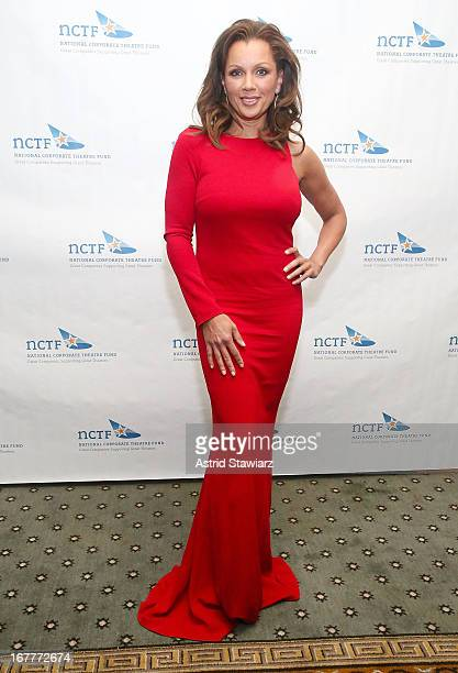 Actress Vanessa Williams wearing a dress designed by Azadeh attends the National Corporate Theatre Fund 2013 Chairman's Award Gala at The Pierre...