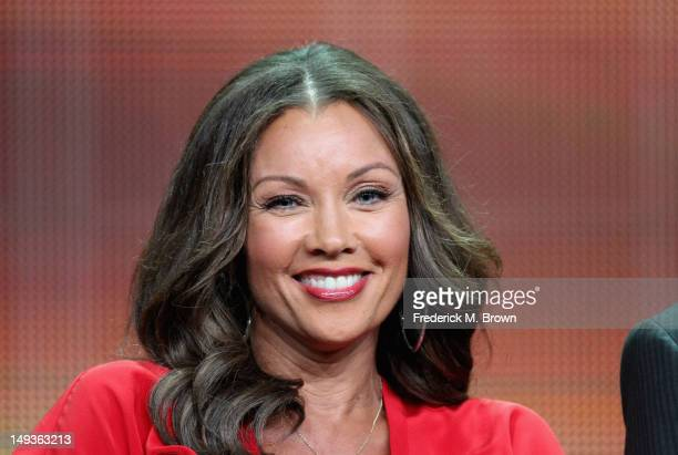 """Actress Vannessa L. Williams speaks onstage at the """"666 Park Avenue"""" panel during the Disney/ABC Television Group portion of the 2012 Summer TCA Tour..."""