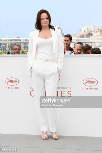 Actress Vasilina Makovsteva attends the 'A Gentle Creature ' photocall during the 70th annual Cannes Film Festival at Palais des Festivals on May 25...