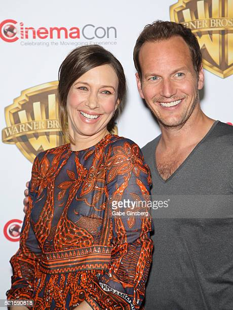 Actress Vera Farmiga and actor Patrick Wilson attend Warner Bros Pictures' 'The Big Picture' an exclusive presentation highlighting the summer of...