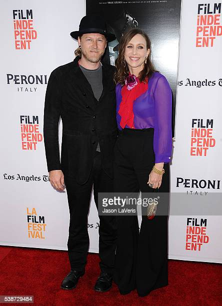 Actress Vera Farmiga and husband Renn Hawkey attend the premiere of The Conjuring 2 at the 2016 Los Angeles Film Festival at TCL Chinese Theatre IMAX...