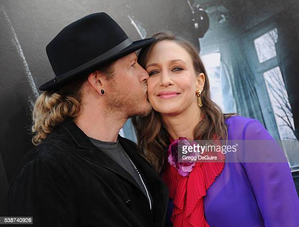 Actress Vera Farmiga and husband/musician Renn Hawkey arrive at the 2016 Los Angeles Film Festival 'The Conjuring 2' Premiere at TCL Chinese Theatre...