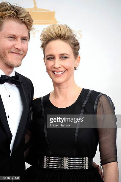 Actress Vera Farmiga and musician Renn Hawkey arrive at the 65th Annual Primetime Emmy Awards held at Nokia Theatre LA Live on September 22 2013 in...