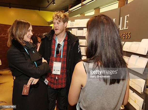 Actress Vera Farmiga and Musician Renn Hawkey attend Kari Feinstein Style Lounge on January 21 2011 in Park City Utah