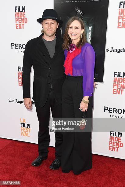 Actress Vera Farmiga and Renn Hawkey attend the 2016 Los Angeles Film Festival The Conjuring 2 Premiere at TCL Chinese Theatre IMAX on June 7 2016 in...