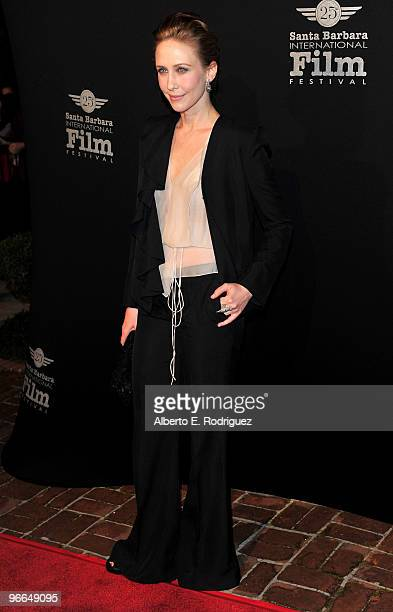 Actress Vera Farmiga arrives at the 25th Annual Santa Barbara Film Festival Cinema Vanguards on February 12 2010 in Santa Barbara California