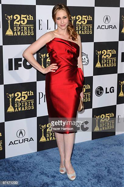 Actress Vera Farmiga arrives at the 25th Film Independent's Spirit Awards held at Nokia Event Deck at L.A. Live on March 5, 2010 in Los Angeles,...