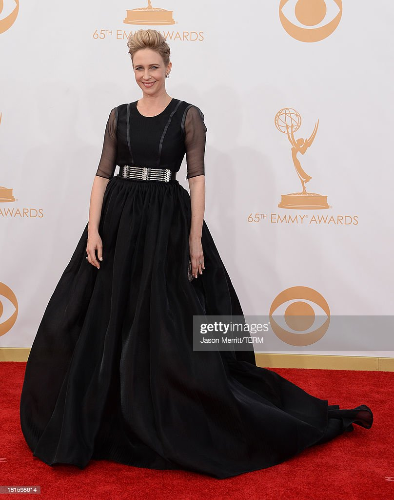Actress Vera Farmiga arrives at the 65th Annual Primetime Emmy Awards held at Nokia Theatre L.A. Live on September 22, 2013 in Los Angeles, California.