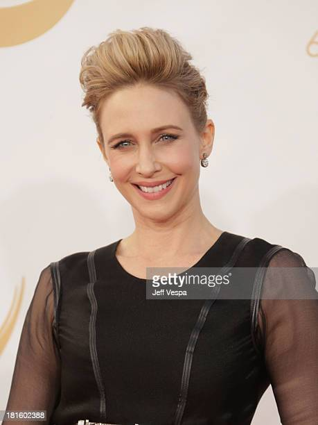 Actress Vera Farmiga arrives at the 65th Annual Primetime Emmy Awards held at Nokia Theatre LA Live on September 22 2013 in Los Angeles California