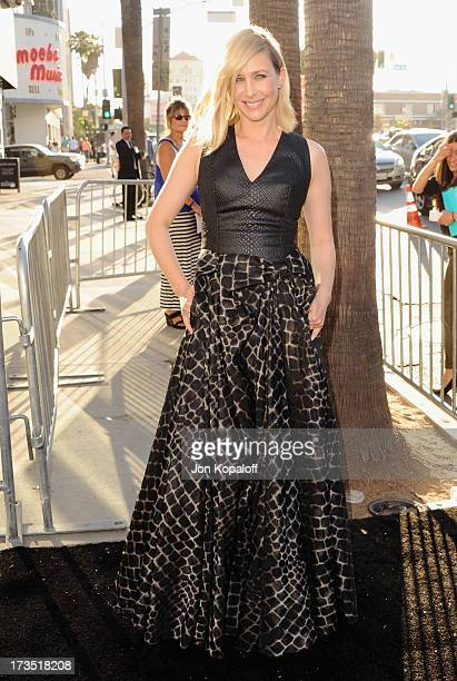 Actress Vera Farmiga arrives at the Los Angeles Premiere The Conjuring at ArcLight Cinemas Cinerama Dome on July 15 2013 in Hollywood California