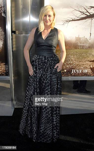Actress Vera Farmiga arrives at the Los Angeles Premiere 'The Conjuring' at ArcLight Cinemas Cinerama Dome on July 15 2013 in Hollywood California