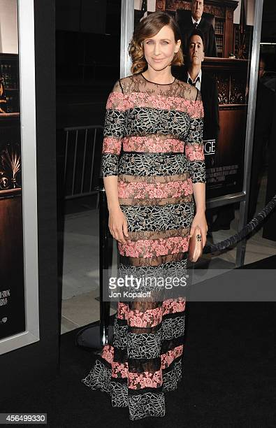 Actress Vera Farmiga arrives at the Los Angeles Premiere 'The Judge' at AMPAS Samuel Goldwyn Theater on October 1 2014 in Beverly Hills California