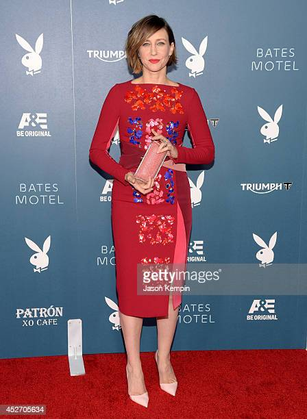 "Actress Vera Farmiga arrives at the Playboy and AE ""Bates Motel"" Event During ComicCon Weekend on July 25 2014 in San Diego California"