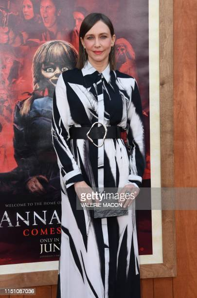 US actress Vera Farmiga arrives for the World Premiere of Annabelle Comes Home at the Regency Village theatre on June 20 2019 in Westwood California