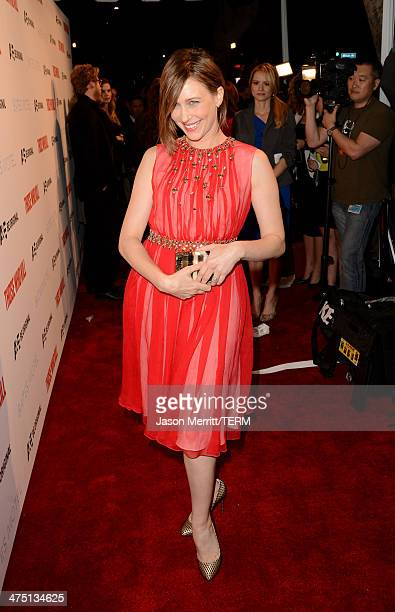 Actress Vera Farmiga attends AE's 'Bates Motel' and 'Those Who Kill' Premiere Party at Warwick on February 26 2014 in Hollywood California