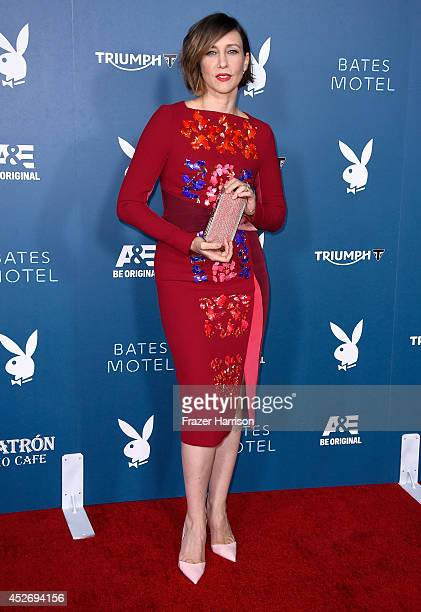 Actress Vera Farmiga attends Playboy and AE 'Bates Motel' Event during ComicCon International 2014 on July 25 2014 in San Diego California