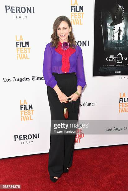 Actress Vera Farmiga attends the 2016 Los Angeles Film Festival The Conjuring 2 Premiere at TCL Chinese Theatre IMAX on June 7 2016 in Hollywood...