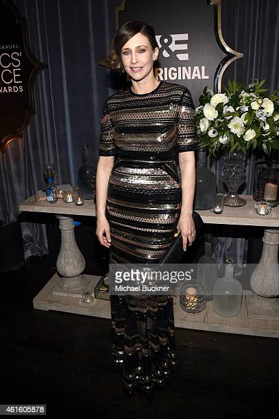 Actress Vera Farmiga attends the after party for the 20th annual Critics' Choice Movie Awards at the Hollywood Athletic Club on January 15 2015 in...