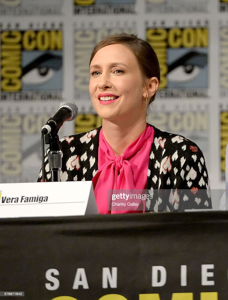 Actress Vera Farmiga attends the 'Bates Motel' panel with A&E during Comic-Con International 2016 at San Diego Convention Center on July 22, 2016 in San Diego, California.