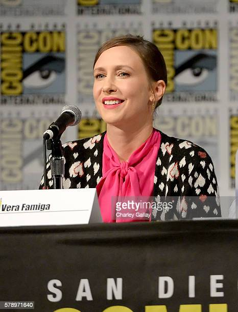 Actress Vera Farmiga attends the 'Bates Motel' panel with AE during ComicCon International 2016 at San Diego Convention Center on July 22 2016 in San...