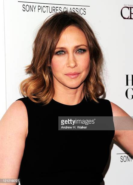 "Actress Vera Farmiga attends the ""Higher Ground"" New York premiere at the AMC Loews 19th Street East 6 theater on August 15, 2011 in New York City."