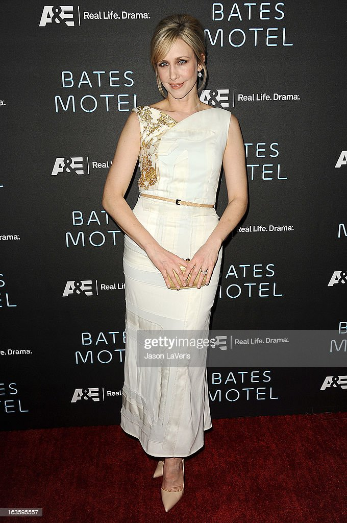 Actress Vera Farmiga attends the premiere of 'Bates Motel' at Soho House on March 12, 2013 in West Hollywood, California.