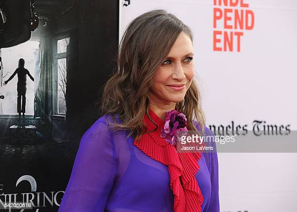 """Actress Vera Farmiga attends the premiere of """"The Conjuring 2"""" at the 2016 Los Angeles Film Festival at TCL Chinese Theatre IMAX on June 7, 2016 in..."""