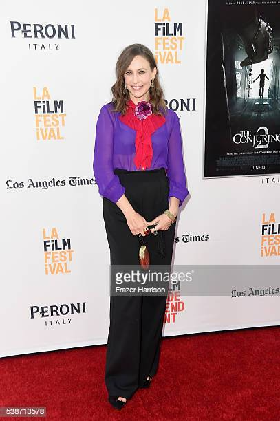 Actress Vera Farmiga attends the premiere of The Conjuring 2 during the 2016 Los Angeles Film Festival at TCL Chinese Theatre IMAX on June 7 2016 in...