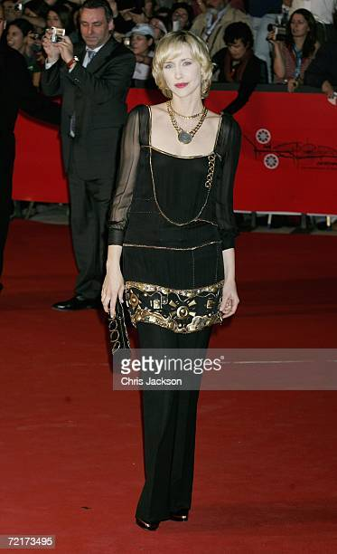 "Actress Vera Farmiga attends the premiere of the movie ""The Departed"" on the third day of Rome Film Festival on October 15, 2006 in Rome, Italy."