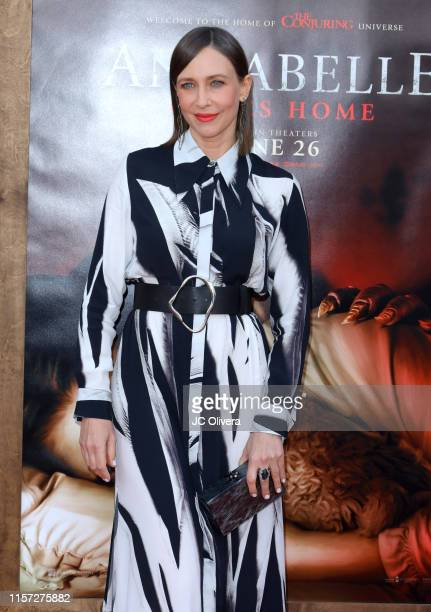 Actress Vera Farmiga attends the premiere of Warner Bros' 'Annabelle Comes Home' at Regency Village Theatre on June 20 2019 in Westwood California
