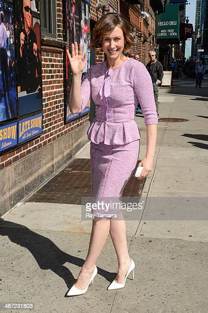 Actress Vera Farmiga enters the 'Late Show With David Letterman' taping at the Ed Sullivan Theater on April 28 2014 in New York City