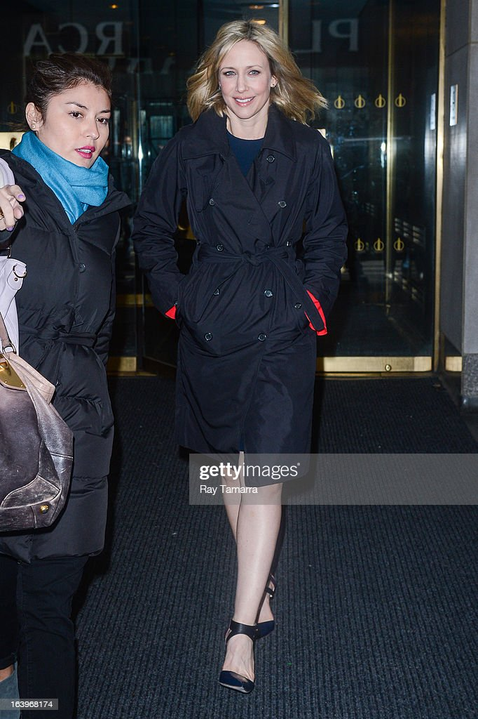 Actress Vera Farmiga leaves the 'Today Show' taping at the NBC Rockefeller Center Studios on March 18, 2013 in New York City.