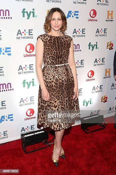 Actress Vera Farmiga of Bates Motel attends the 2014 AE Network Upfronts at Park Avenue Armory on May 8 2014 in New York City