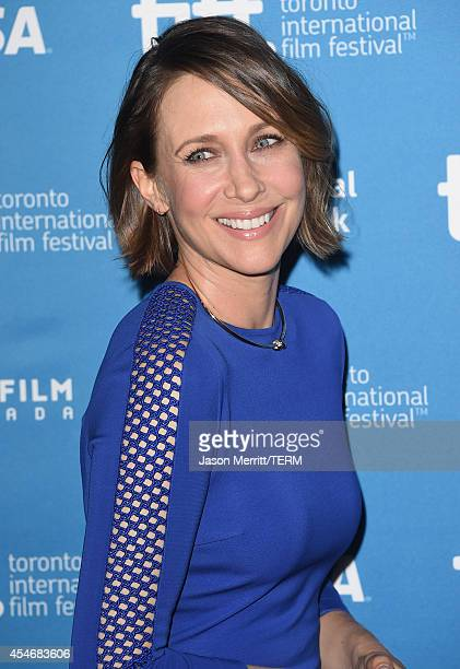 Actress Vera Farmiga of 'The Judge' poses onstage at 'The Judge' Press Conference during the 2014 Toronto International Film Festival at TIFF Bell...