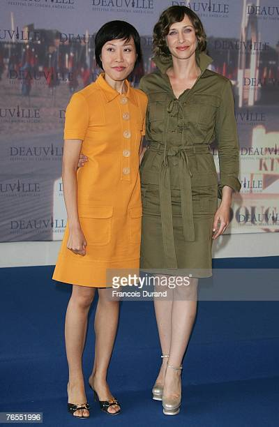 "Actress Vera Farmiga of the U.S. Poses with director Gina Kim of South Korea during a photocall for their film ""Never Forever"" during the 33rd..."