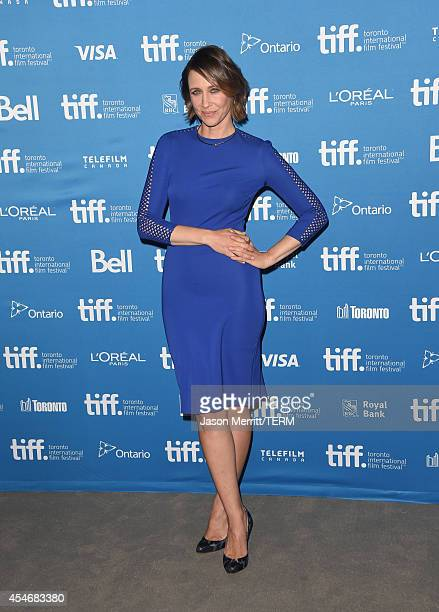 Actress Vera Farmiga poses during 'The Judge' Press Conference during the 2014 Toronto International Film Festival at TIFF Bell Lightbox on September...