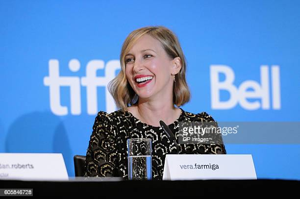 Actress Vera Farmiga speaks onstage at the 'Burn Your Maps' press conference during the 2016 Toronto International Film Festival at TIFF Bell...