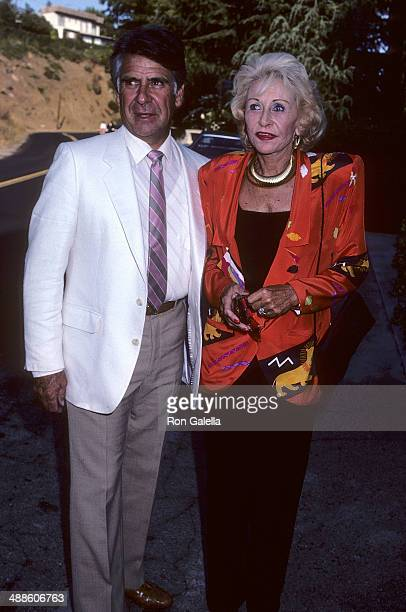 Actress Vera Ralston and husband Charles de Alva attend the California Youth Theatre 1986 Season KickOff Celebration on August 13 1986 at John Anson...