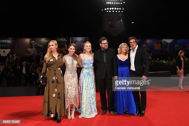 Actress Vera Vitali actress Emilia Jones actress Dakota Fanning director Martin Koolhoven producer Els Vandervorst producer Uwe Schott attend the...
